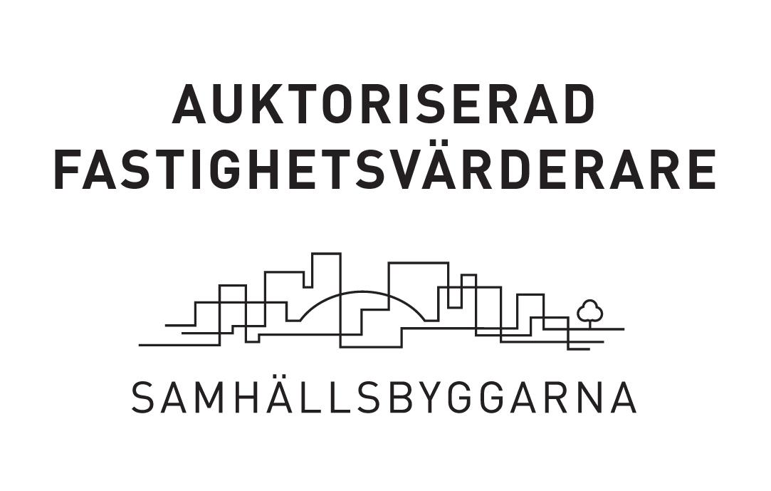 Av Samhällsbyggarna auktoriserad fastighetsvärderare, logo