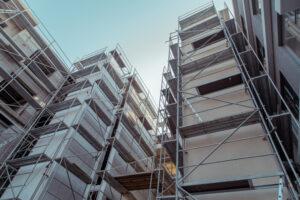 Fastighetsvärdering, nybyggnation. Byggarbetsplats.